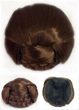 Perfect Braided Hair Bun,Hair Piece, Medium Copper Brown, Bridal Hair Style