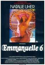 Emmanuelle 6 Poster 01 métal signe A4 12x8 aluminium