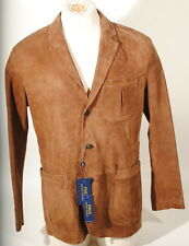 Polo Ralph Lauren Classic 100% Suede Leather Blazer Sport Coat Jacket 38R $1295