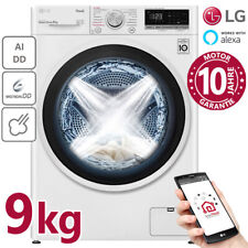 LG Waschmaschine 9kg Frontlader 1400U/min Dampf Inverter Direktantrieb Wifi AIDD