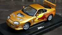 JOYRIDE 1:18 2 Fast 2 Furious Brian ex 1993 Gold Toyota Supra MK 4 Movie Car Toy