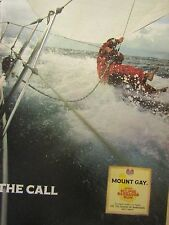 1990 Mount Gay Original Print Ad 8.5 x 10.5''The Call- In Water