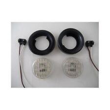 """(2) White 2"""" Round 9 LED Custom Mini Reverse Backup Lights / Grommets / Wires"""
