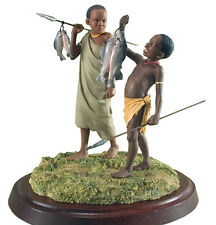 Thomas Blackshear Ebony Visions GOOD CATCH Boys Fishing Figurine 797615 New