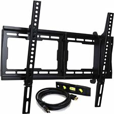 New 23-65 Inch TV Tilt Kit Wall Mount for LED LCD Plasma Flat Panel & HDMI Cable
