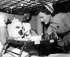 Photo. Korean War. Nurse Feeding Injured Marine on Navy Hospital Ship