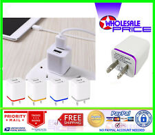 10x USB Wall Charger 2.1A Dual Port Phone Charging Base Cube Charger For iPhone