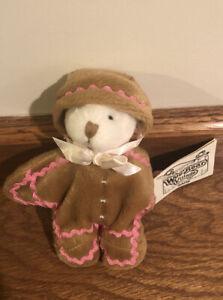 "Ganz Wee Bear Village GingerBread Costume Sweet 5"" White Bear"