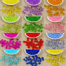 50/100pcs Round Transparent Faceted Acrylic Plastic Spacer Beads Jewelry Craft B
