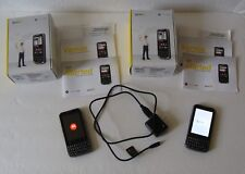 Lot of 2 Motorola XPRT MB612 Smart Phone Qwerty Keyboard Black