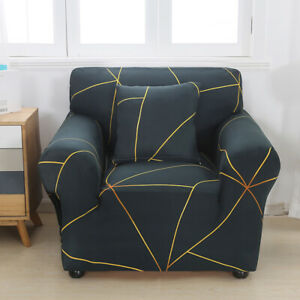 Universal Printed Single Sofa Cover Elastic Couch Slipcover Furniture Protector
