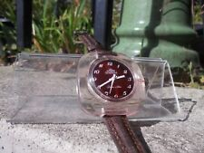 VINTAGE,RETRO,DESIGN,LADIES,JOWISSA,SWISS,WATCH,PINK ACRYLIC,FACETED CASE,RUNS