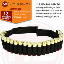 12 & 20Ga Shotgun shell holder belt. Hunting cartridge belt. Fits 25 x shells
