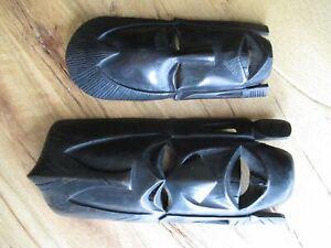 Holz Maske Afrika Massai 2 Stück Wood mask zum Hängen