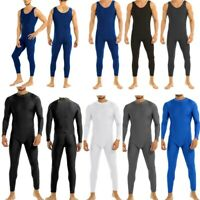 Men's Spandex Full Body Skin-Tight Tank Unitards Bodysuit Catsuit Dance Costumes