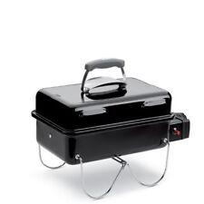 Weber Go-Anywhere Gasgriller schwarz mit Edelstahl-Grillrost & Grillplatte + Gas