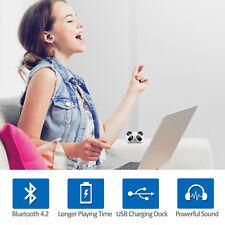Mini Wireless Bluetooth 4.2 Earbuds With Mic Bass Twins Stereo In-Ear Earphones