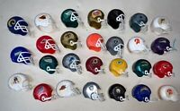 Lot 28 Vintage NFL Mini Gumball Football Helmets ~ Mixed Condition for Play!