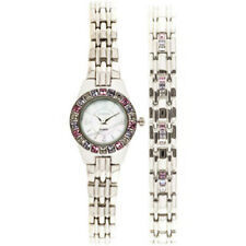 ELGIN WOMANS SILVERE TONE WATCH WITH BRACLET EG9917ST