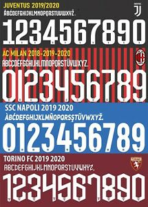 Number + Name Players Milan Juve Naples Psg Inter Real Madrid Atalanta Roma