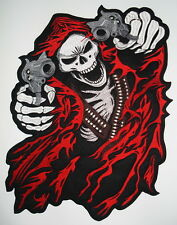 Embroidered Biker Motorcycle Back Jacket Patch - REAPER