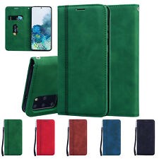 Retro Leather Flip Card Wallet Stand Magnet Case Cover For Samsung Galaxy Phones