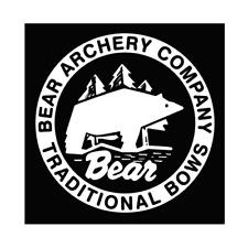 BEAR ARCHERY VINTAGE LOGO VINYL STICKER DECAL Window  BOW HUNTING Deer Elk Truck