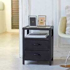 Metal Bedside Tables & Cabinets with 2 Drawers