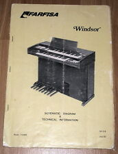 FARFISA Windsor Original Service Manual Repair Schematique Schema Schaltplan