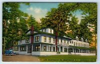 Vintage Linen Postcard Lake Brantingham Inn Adirondack Mountains NY