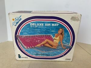 """New Vintage 1994 INTEX The Wet Set Deluxe Air Mat Pool Float Lounge 76"""" x 29"""""""