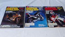 MOTOR CYCLIST LOT OF 3 OCTOBER  NOVEMBER & DECEMBER 1984