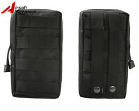Hunting Military Tactical Molle First Aid Bag Magazine Drop Pouch for Vest Black
