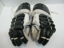 Vintage Ice All Leather Hockey Gloves Cooper 17 Professional