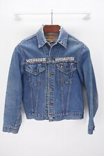 LEVI'S Vintage Blue Denim Trucker Jean Jacket Studs Pins Punk Rock N Roll ≈ S/M