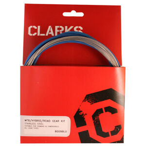 Clarks Cable Gear Kit F+R Stainless Sport Road/Mountain Blue