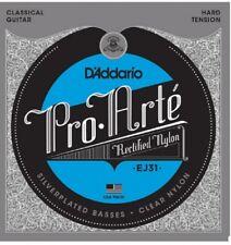 3 Sets EJ31 Pro-Arté Rectified Trebles Hard Tension Nylon Strings D'Addario