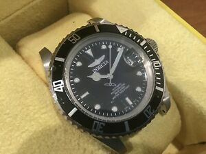 Invitation men's diver watch wristwatch automatic movement 40mm case w/ box