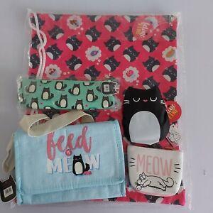 school bundle felinefine foldable bag drawstring bag pencil case lunch bag purse