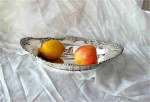 1900's ANTIQUE LARGE GERMAN STERLING / 800 SILVER FRUIT BOWL SUPERB