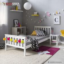 Jugendbett Einzelbett Bett Kinderbett Bettgestell 90x200 weiß Tagesbett Holzbett