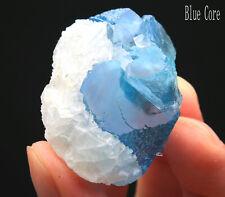 53g WOW!!! Rare Ladder-like Blue Fluorite & Calcite Symbiosis Specimen/China 824