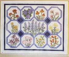 Handpainted Needlepoint Texas Wildflowers W/Bluebonnets + 10 Other Flowers – Nr2