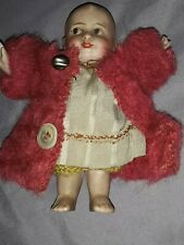 """Antique Bruno Schmidt Googly Type Character Bisque Doll 5-1/2"""" VERY RARE"""