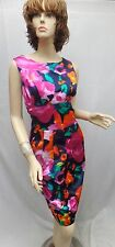 St John Knit NWOT GORGEOUS Cotton Multi Color DRESS SZ 6