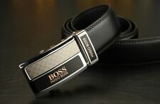 Hugo Boss Leather Belt Black Automatic Buckle Brand New with Tags