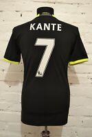 CHELSEA LONDON 2016/2017 AWAY FOOTBALL SHIRT SOCCER JERSEY MENS XS #7 KANTE