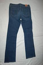 "Womens AEROPOSTALE JEANS Dark Blue 'CHELSEA BOOT"" Stretch HEGE Size 2 Reg Normal"