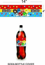 m & m  happy birthday party decoration supplies soda cover