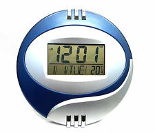 DIGITAL ALARM CALENDAR THERMOMETER TABLE DESK WALL CLOCK TIMER NO-6870